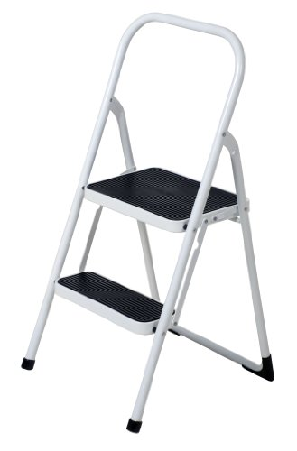 Vestil FSL-2 Fold Up 2 Steps Ladder, Steel, 250 lbs Capacity, 18