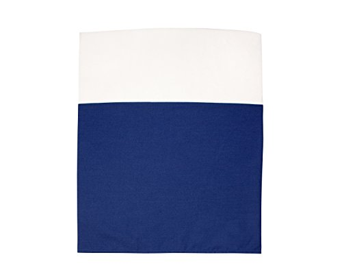 Little Love by NoJo Separates Collection Solid Crib Skirt, Navy (Bedding Separates Crib)