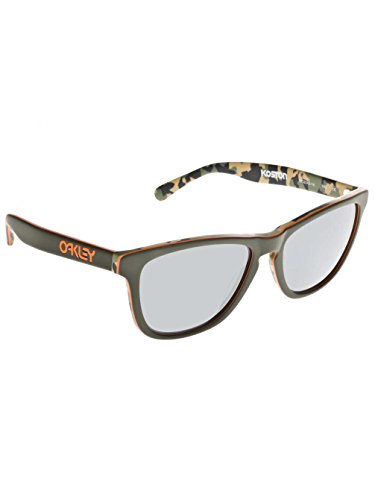 Oakley Koston Signature Series Frogskin LX Sunglasses Matte Camo Green/Black Iridium, One - Oakley Sunglasses Green Frogskin
