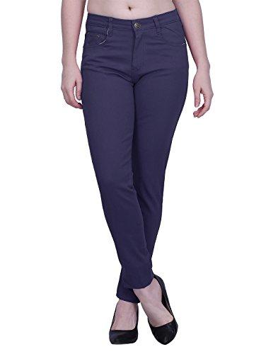 HDE Women's Jeans Jeggings Five Pocket Stretch Denim Basic Slim Fit Skinny (Pink Pocket Jeans)