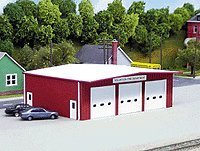 Pikestuff HO Fire Station Kit (Red)