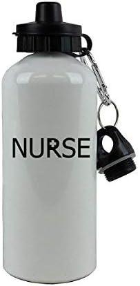 GFGKKGJFD - Botella de Agua de Aluminio para Enfermera, Color Blanco