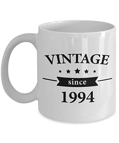 Gift for 25 Year Old Man Coffee Mug - 25th Birthday Idea for Men - Vintage Since 1994 Cup for Him Dad Husband Brother in Law Coworkers Uncle