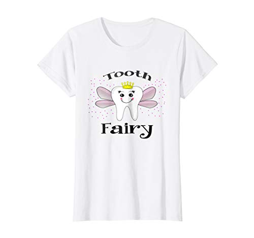 Womens Tooth Fairy Halloween Costume T-shirt for Women and Girls Small -