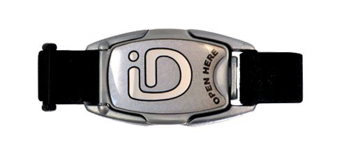 (ID Wristband Bracelet for Kids Safety, Sports, Running and Travel (Silver))