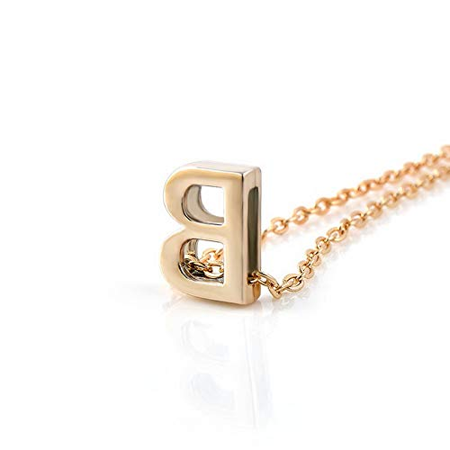 Hebel Fashion Womens Gold Plated Initial Alphabet Letter A-Z Pendant Chain Necklace | Model NCKLCS - 35170 |