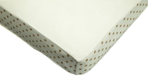 American Baby Company 100% Organic Cotton Fashion Fitted Fashion Crib Sheet, Natural/Mocha Polka Dots, Baby & Kids Zone