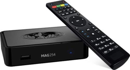 MAG 254 IPTV BOX + REMOTE + HDMI CABLE + POWER ADAPTER + WIFI ADAPTER