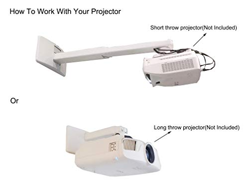 Viewtech Universal Short Throw Projector Wall Mount Fully Adjustable:19.5''-49'' by Viewtech (Image #3)