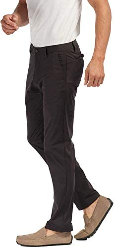 Rhone Men's Commuter Comfortable Stretch Straight-Leg Flat-Front Pants (Black, 35)
