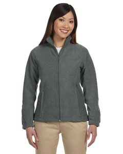 Harriton Ladies' 8 oz. Full-Zip Fleece S Charcoal