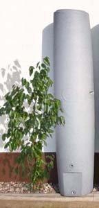 Regentonne Säule granit-grau, 450l