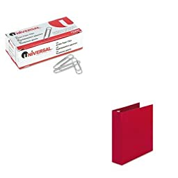 KITAVE03510UNV72220 - Value Kit - Avery Economy Binder with Round Rings (AVE03510) and Universal Smooth Paper Clips (UNV72220)