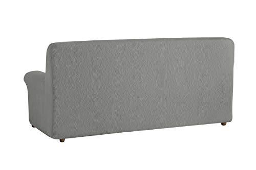 Textilhome – Housse de Canapé TEIDE Elastique, Revêtement de Canapé – Taille 1 Places – 70 a 100 cm. Couleur Gris