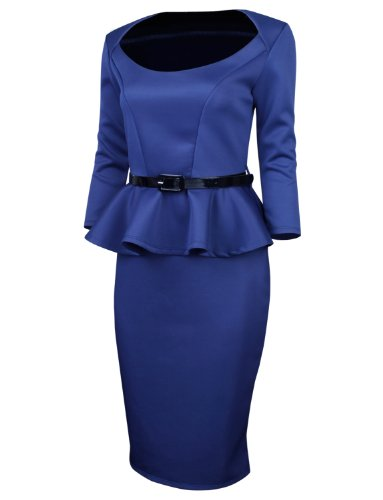 Buy belted peplum dress - 6