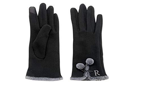 Mud Pie Home Women Winter Holidays Smartscreen Initial Knit Gloves 86020018