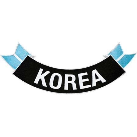 MilitaryBest Korea Ribbon Rocker Patch ()