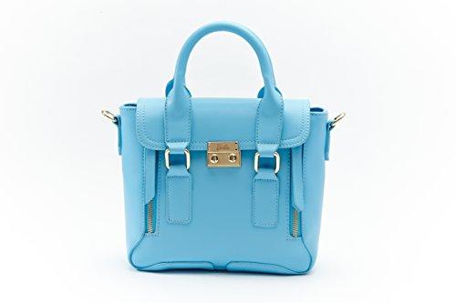 Barbie BBFB125 Bolso de Vintage de Color de Camarelo Multicolor Bolso Bandolera Azul
