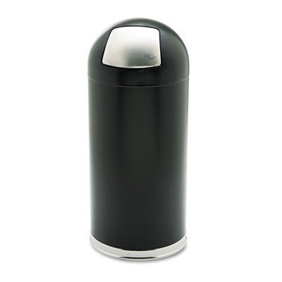 SAF9636BL - Safco Dome Top Receptacle by Safco