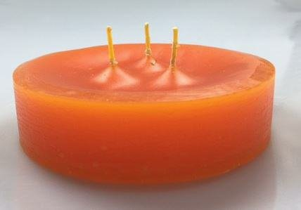 Bougie Flottante 3 Meches Orange 30 X 120 Mm Grosses Bougie