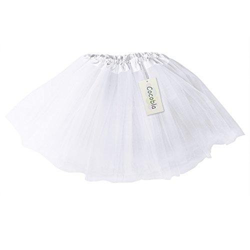 Imixcity Femme 12 Couleurs Pettiskirt D'lastique Mini Robe 3-Couche Organza Jupe Blanc