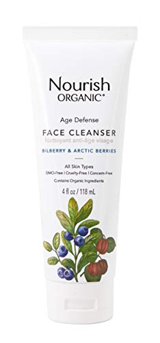 - Nourish Organic Age Defence Face Cleanser, 4 Ounce