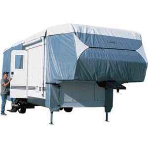 """Vortex Deluxe 26 27 28 29 ft 5th Fifth Wheel Camper Cover, 102"""" wide, 120"""" tall, 3 layer top, single layer sides, zippered access side panels (FAST SHIPPING - 1 TO 4 BUSINESS DAY DELIVERY)"""