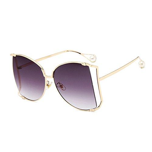 Für Rahmen C5 Frauen Uv400 Sonnenbrille Dekoration Klare Quadratischen KXLEB Frauen Linse Große Übergroßen Perle Sonnenbrille C9 wXqxZOTPF