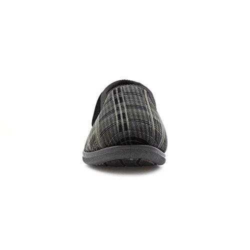 The Slipper Company , Herren Hausschuhe, Schwarz - schwarz - Größe: 40
