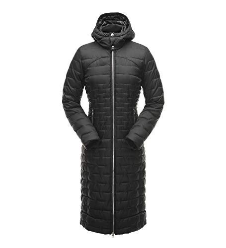 Spyder Women's Edyn Long Synthetic Down Jacket, Black/Black, Small