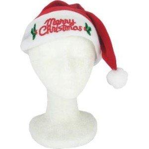[Flashing Light-Up Santa Hat Merry Christmas] (Discount Christmas Costumes)