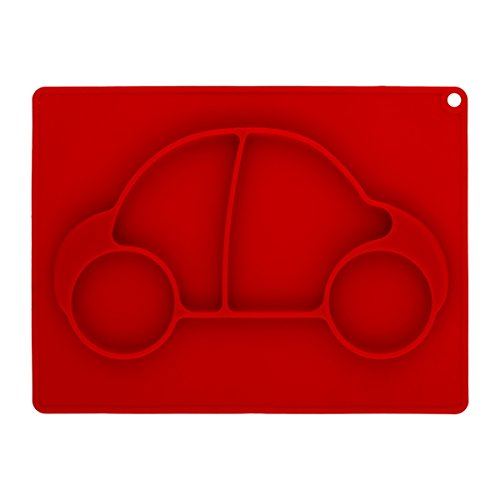 Brandani Non Slip Silicone Red Car Baby Tray, One Size