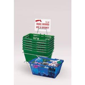 6 Hunter Green Hand Baskets