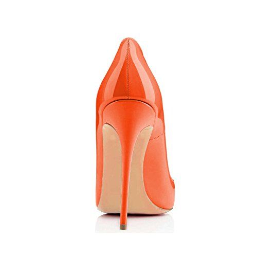 Fsj Scarpe Da Donna Scarpe Da Punta A Punta Tacco Alto Stiletto Sexy Slip On Dress Shoes Taglia 4-15 Us Orange