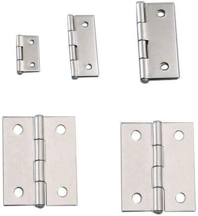 plateado caj/ón bisagras de acero inoxidable varios tama/ños para armario no incluye tornillos puerta Vogueing Tool Bisagra para puerta bisagras plegable