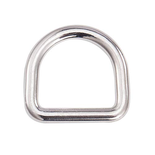 """10 Pcs Metal D Rings 1 Inch,Solid Steel Seamless Molded Casted Dee Ring (1"""")"""