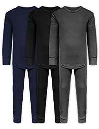 59dfd5f9 Boys Long John Ultra-Soft Cotton Stretch Base Layer Underwear Sets / 3 Long  Sleeve