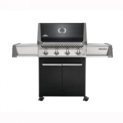 """Napoleon Prestige Series P500NK 65"""" Freestanding Natural Gas Grill With 760 Sq. In. Cooking Surface 48 000 Total BTUs Rotisserie Kit Cast Iron Grids Jetfire Ignition System 4 Casters In"""