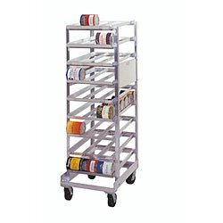 PVIFS CR162C Mobile Full Size Can Rack, 36'' Length x 25'' Width x 80'' Height by PVIFS