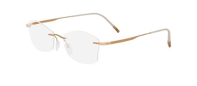 c86f0f810d Silhouette Montura de gafas - para mujer Dorado oro rosa 52: Amazon.es:  Ropa y accesorios