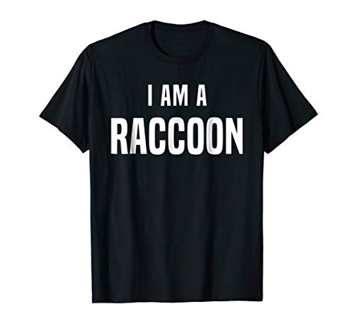Raccoon Costume Shirt Easy Simple Halloween Costumes]()