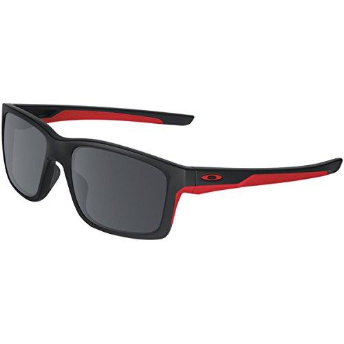 Oakley Men's Mainlink Non-Polarized Iridium Rectangular Sunglasses, Matte Black, 57.01 - Centre Oakley