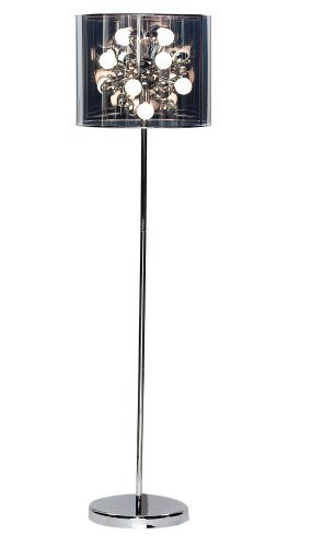 Adesso Round Table Lamp - Adesso 3261-22 Starburst Floor Lamp, Steel, Smart Outlet Compatible, 60