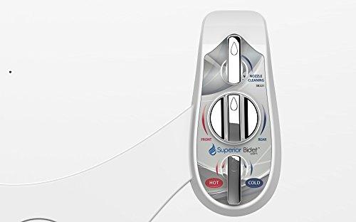 Superior attachments, the leader in washlets Easy and white non electric dual nozzle Supreme toilet bidet
