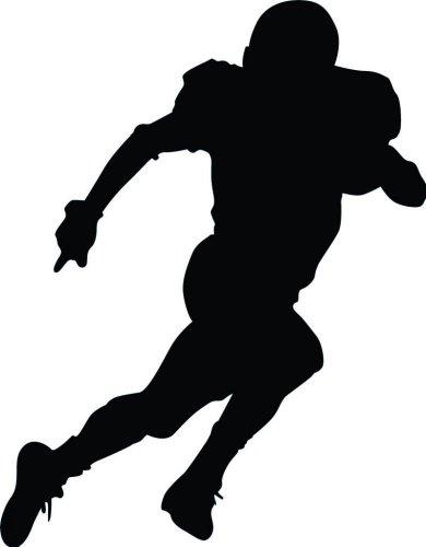 Wallmonkeys Football Silhouette Style 38 Wall Decal Peel and Stick Graphic WM269316 (18 in H x 14 in W) by Wallmonkeys (Image #1)