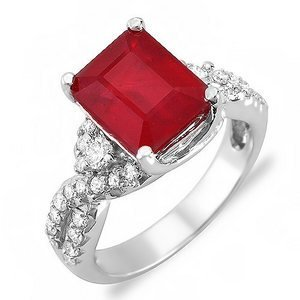 Vintage-490-Ct-Natural-Ruby-Diamond-Ring-14k-Gold