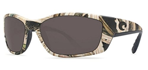 Sunglasses, Mossy Oak Shadow Grass Blades Camo, Gray 580Plastic Lens (Grass Fs)