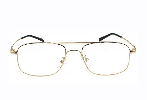 Agstum Aviator Full-flex Optical Memory Titanium Eyeglass Frame (Gold)
