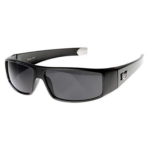 Flat Top Wrap OG Gangsta Hardcore Locs Sunglasses (Black)