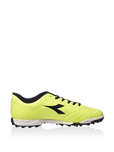 Diadora 650 II TF, Botas de Fútbol Para Hombre, Amarillo Flúor/Negro, 43 EU
